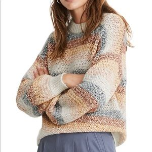 Madewell Baez Pullover Striped Colorful Sweater